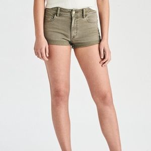 American Eagle Olive Green High Waisted Shorts